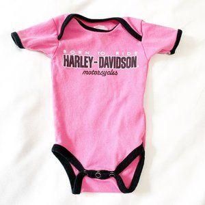 Harley Davidson pink onesie 3-6 m